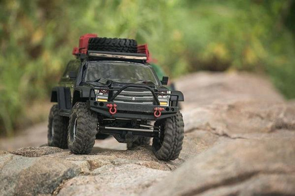 Redcat Racing Everest Gen7 PRO driving on a rock