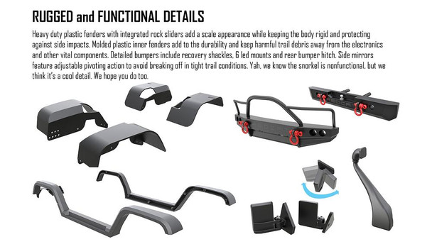Redcat Racing Everest Gen7 PRO rugged and functional details