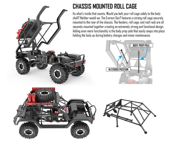 Redcat Racing Everest Gen7 PRO chassis mounted roll cage