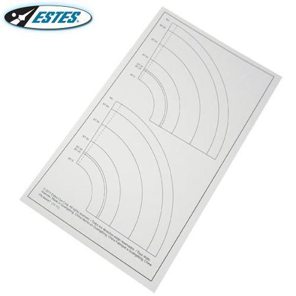 Estes BT5-BT60 laser cut paper adapters