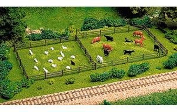 Atlas 3-rail fence & gate HO scale 777
