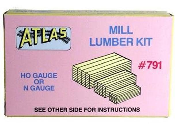 Atlas HO scale stacked mill lumber kit 791