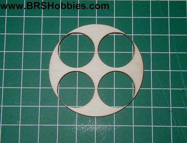 Cluster Centering Ring - centers 4 - BT50 tubes into a BT80 body tube