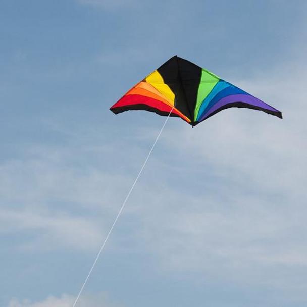 Rainbow Black 6' Delta Kite