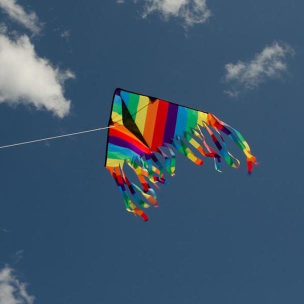 Rainbow Stripe 32 inch Flutterfly Kite by In the Breeze