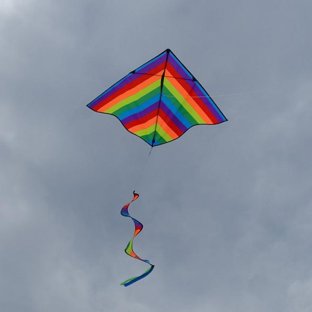 Rainbow Stripe Delta Kite