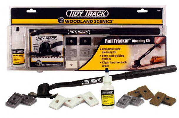 Woodland Scenics Tidy Track rail tracker cleaning kit TT4550
