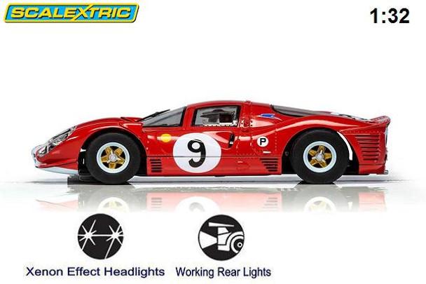 Scalextric Ferrari 412P Brands Hatch 1/32 slot car side view
