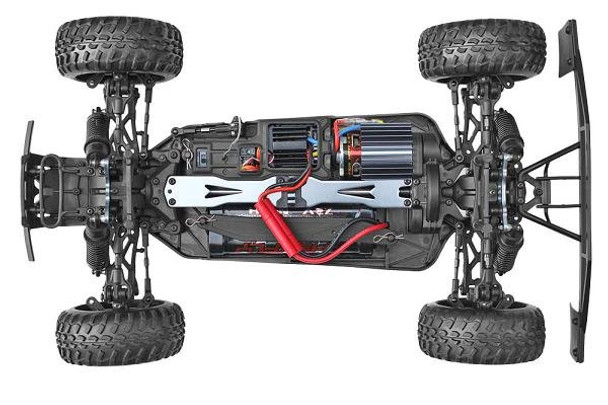 Redcat Racing Blackout SC RTR chassis top view