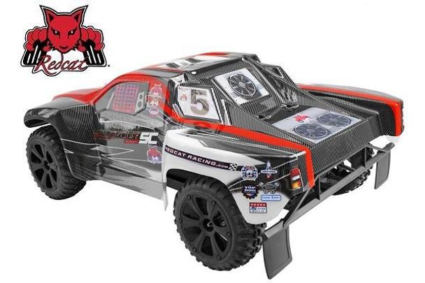 Redcat Racing Blackout SC 4x4 1/10 RC short course truck rear view