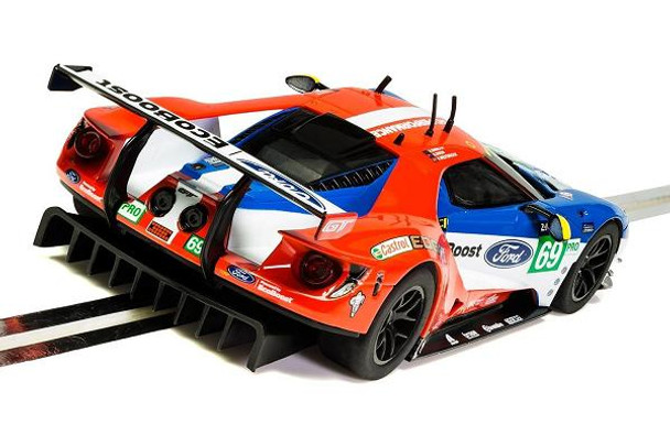 Scalextric Ford GT GTE Le Mans 1/32 slot car rear view