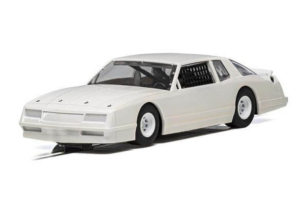 Scalextric 1986 Chevrolet Monte Carlo plain white 1/32 slot car C4072