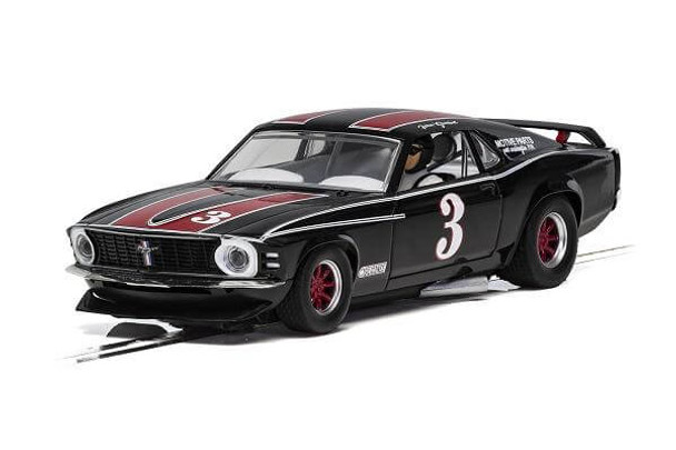Scalextric 1972 Ford Mustang Trans Am John Gimbel 1/32 slot car C4014