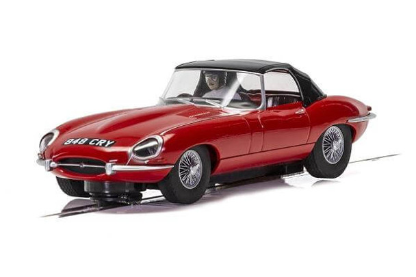 Scalextric Jaguar E-Type - Red 1/32 slot car C4032