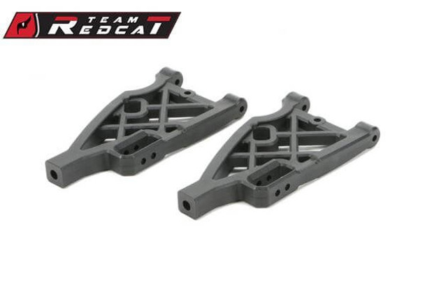 Team Redcat front/rear lower suspension arms that fit the TR-MT10E 4x4 1/10 RC monster truck