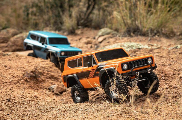 Redcat Racing RC Gen8 Scout II 4x4 1/10 crawlers going over some rough terrain
