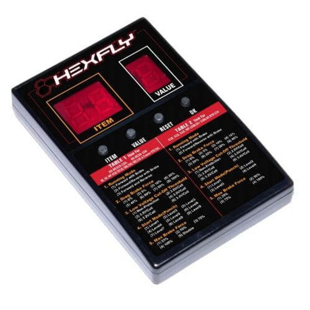 Hexfly and Hobbywing brushless ESC program card