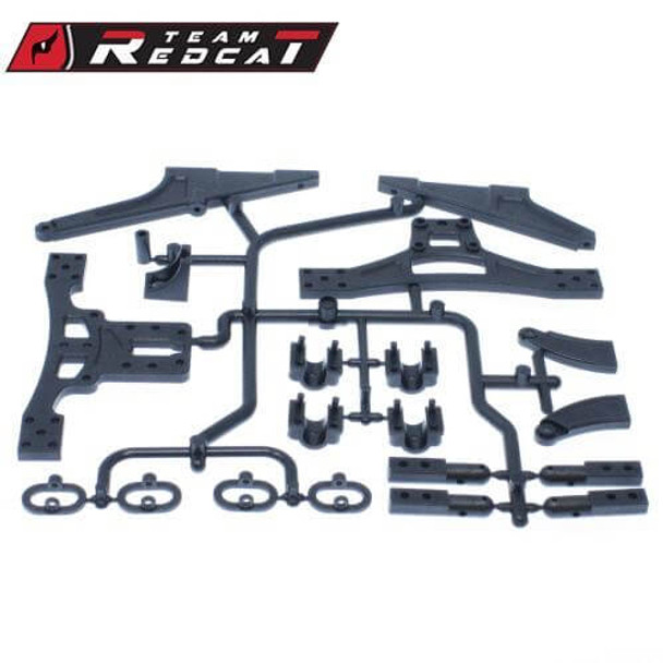 Team Redcat SC-08 body mounts & chassis brace set for the TR-SC10E 4x4 1/10 RC short course truck