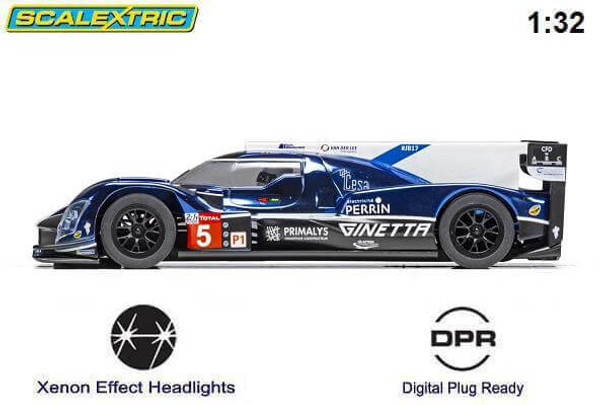 Scalextric Ginetta G60-LT-P1 LeMans 2018 1/32 slot car side view