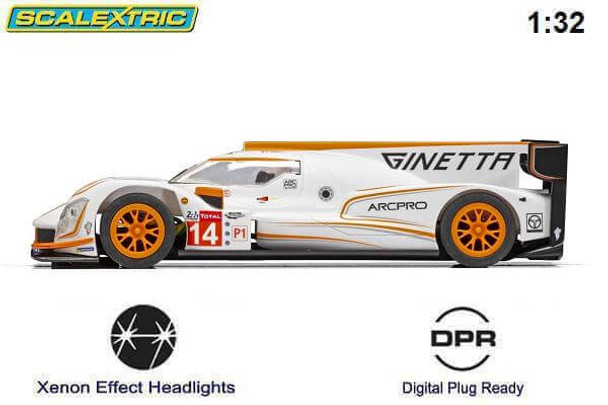 Scalextric Ginetta G60-LT-P1 1/32 slot car side view