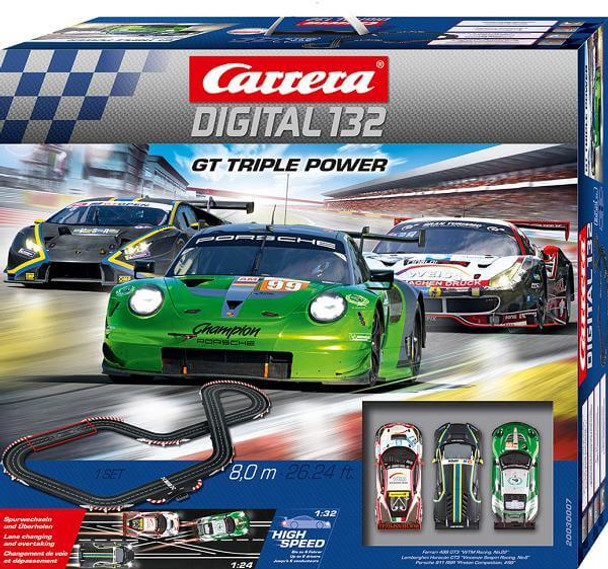Carrera DIGITAL 132 GT Triple Power race set outer box