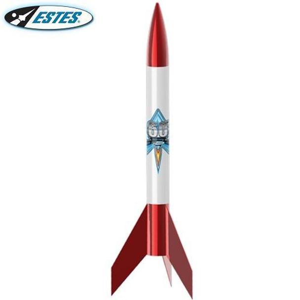 Estes Alpha VI flying model rocket kit 1958