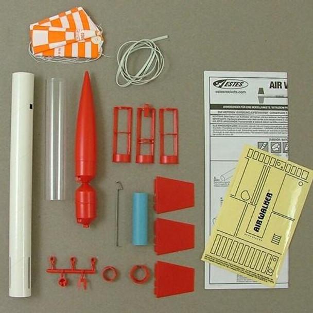 Estes Air Walker flying model rocket kit components