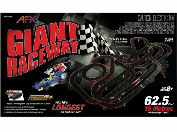 AFX Giant Raceway HO scale slot car set box 22020
