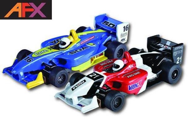 AFX Mega-G+ Formula 2 pack HO scale slot cars