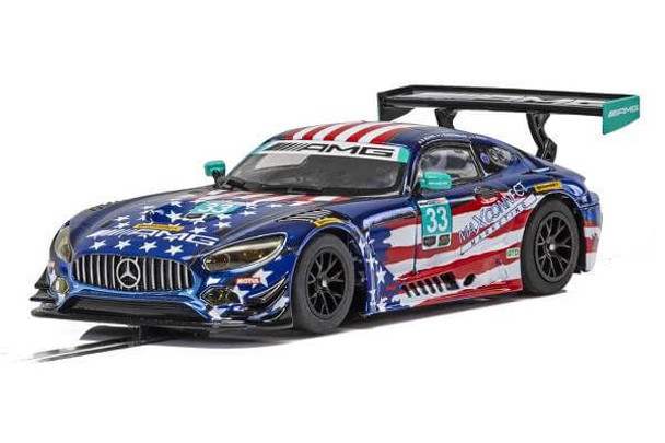 Scalextric Mercedes AMG GT3 Riley Motorsports Team 1/32 slot car C4023