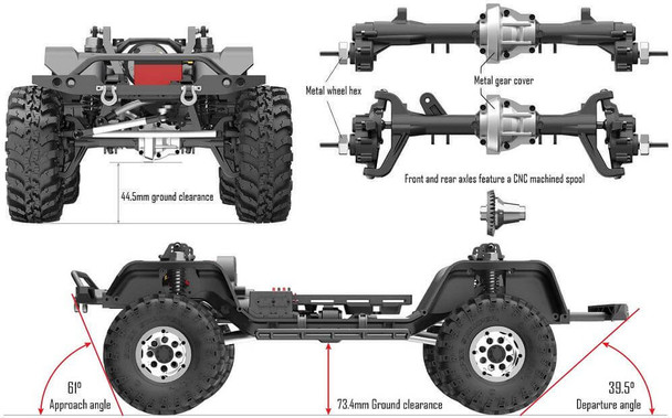 Redcat Racing RC Gen8 Scout II portal axles and ground clearance