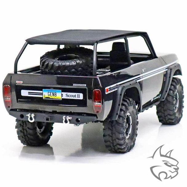 Redcat Racing Gen8 Scout II AXE edition 4x4 1/10 rc crawler rear end view