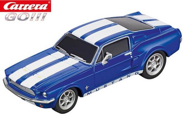 Carrera GO 1967 Ford Mustang racing blue 1/43 slot car 20064146