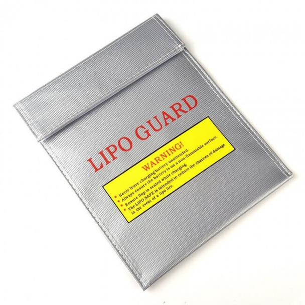 LiPo Guard battery bag that measures 9x7 inches for charging & storage