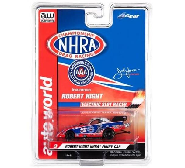 Auto World 4Gear Chevy Camaro Robert Hight NHRA funny car HO slot car