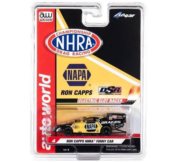 Auto World 4Gear Dodge Charger Ron Capps NHRA funny car HO slot car