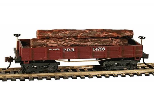 Mantua Classics HO Pennsylvania Railroad 1860 wooden log car