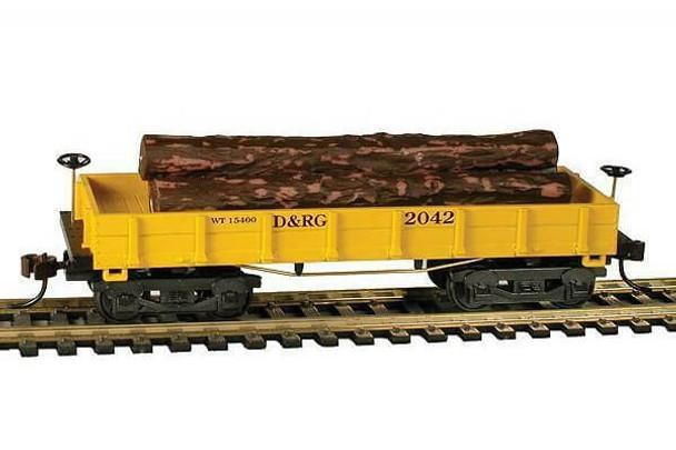 Mantua Classics HO Denver & Rio Grande Railroad 1860 wooden log car