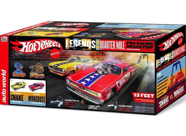 Auto World Hot Wheels Snake vs Mongoose HO scale dragstrip race set SRS330