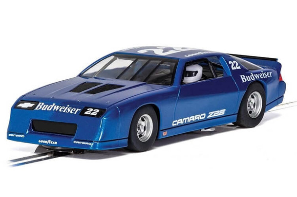 Scalextric Chevrolet Camaro IROC-Z blue 1/32 slot car C4145