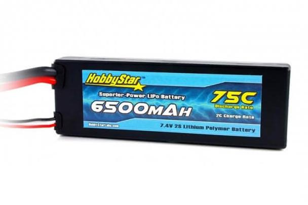 HobbyStar 2S 7.4V 6500mAh 75C hard case LiPo battery