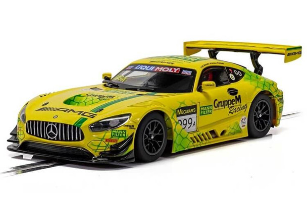 Scalextric Mercedes AMG GT3 Gruppe M Racing 1:32 slot car C4075