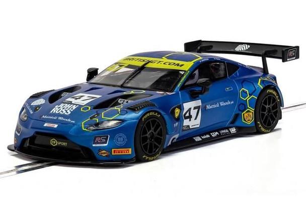 Scalextric Aston Martin Vantage GT3 2019 TF Sport British GT 1:32 slot car C4076