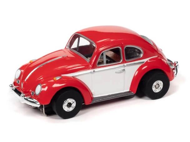 Auto World Thunderjet Ultra-G 1966 Volkswagen Beetle red/white HO slot car