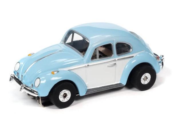 Auto World Thunderjet Ultra-G 1966 Volkswagen Beetle blue/white HO slot car