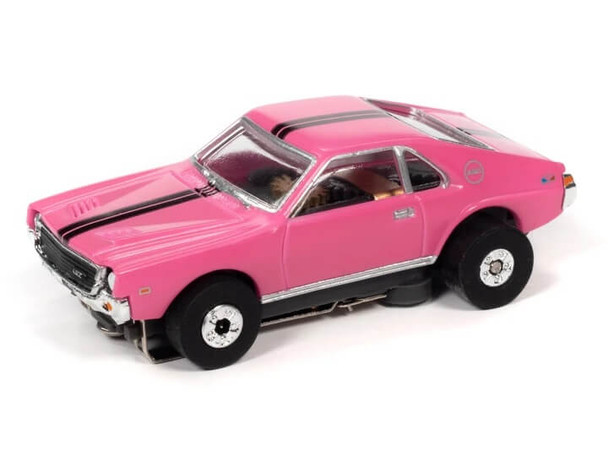 Auto World Thunderjet Ultra-G 1969 AMC AMX pink HO slot car
