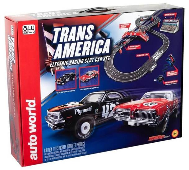 Auto World Trans America HO scale race set SRS326