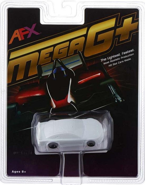 AFX Mega-G+ Ford Fusion Stocker HO Slot Car - White Paintable 21025