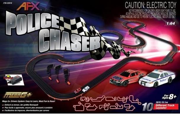 AFX Police Chaser slot car set box