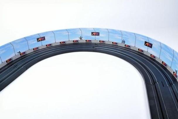 AFX Race Barrier installed on an HO slot car track